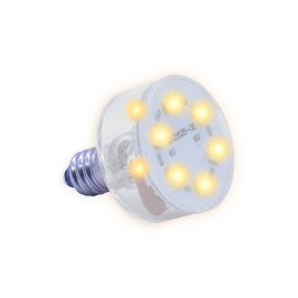 E10 Multi LED light 230Volt/2,3W warm wit