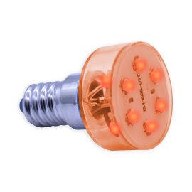 E14 Multi LED light 230Volt/2,3W rood